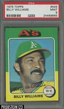 1975 Topps #545 Billy Williams A's  PSA 9 MINT