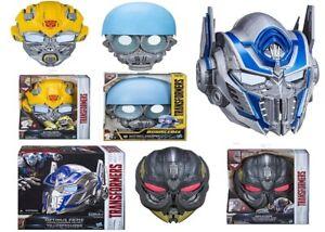 Transformers Bumblebee Optimus Prime Megatron Voice Changer Face Mask 5+ Play