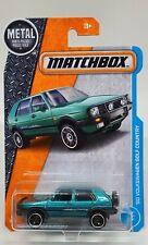 2017 Matchbox '90 Volkswagen Golf Country Teal #4/125