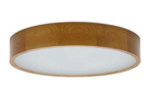 475 eiche Plafond KATIA E27 Deckenlampe Deckenleuchte glas holz runde modern