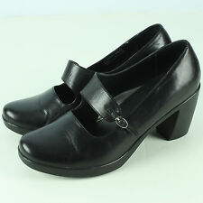 Dansko Tara Nappa 42 11 Black Shoe Mary Jane Pumps Platform Heels Clog 3 Inch