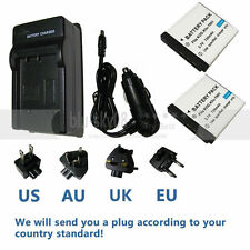 2X Camera Battery KLIC-7001+charger for KODAK EasyShare M1073 IS M320 M893 IS