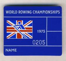 1975 FISA WORLD ROWING Championships PARTICIPANT pin BADGE Rower NOTTINGHAM
