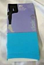 CLAIRE'S Footless Tights Blue S/M 95-125 Pounds NIP