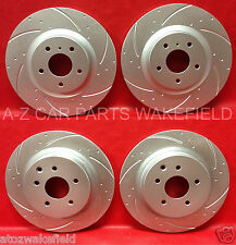 FOR NISSAN 350Z INFINITI G35 FRONT REAR GROOVED PERFORMANCE BRAKE DISCS KINETIX