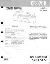 Sony Original Service Manual für CFS-201 L
