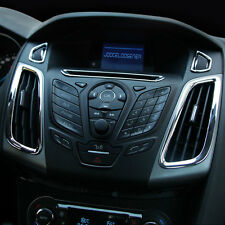 New Ford FOCUS Mark 3 Mk III Center Interior Vent Knobs Chrome Surround Trim