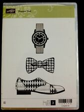 """DAPPER DAD"" Stampin'UP! NEW~CLEAR/CLING-SHoe-Tie-Watch - Father's Day"