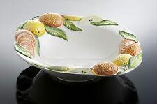 Bassano große Zitronen Orangen Obstschale Ausgefallene italienische Keramik 42cm