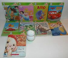 LEAPFROG TAG JR READER SYSTEM + 9 BOOKS TOY STORY CARS DISNEY PRINCESS POOH ++