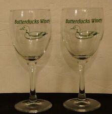 2 Butterducks Winery Glasses