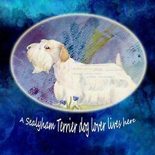 More details for sealyham terrier dog new hardboard plaque tile design sandra coen art print
