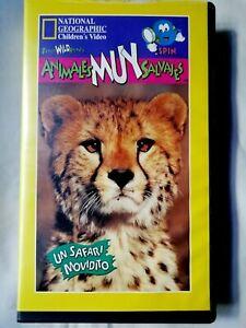 Animales muy salvajes Cinta VHS National  Geografhic children's video  pal