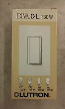 Lutron DVCL-153P-WH Diva Dimmer for CFL, LED, Halogen, and Incandescent Dimmable