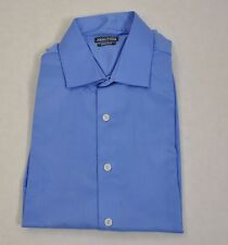 Kenneth Cole Reaction New W Tags Regular Fit Dress Shirt Blue Size 16 1/2 34-35