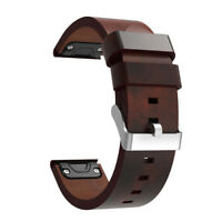 Luxury Leather Strap Replacement Watch Band With Tools For Garmin Fenix 5 GPS US