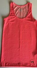 Under Armour HeatGear Fitted Ribbed Tank Top Coral Pink Snake Patterned - XL