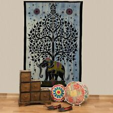Bedspread Elephant Tree of Life Deco Cloth India Mandala Approx. 200 x 135 cm UV