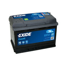 1x Exide Excell 74Ah 680CCA 12v Type 082 Car Battery 3 Year Warranty - EB741