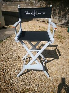 SHABBY CHIC SOLID PINE DIRECTORS CHAIR IN COLOUR OF STEEL BY LITTLE GREENE