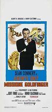 007 MISSIONE GOLDFINGER  LOCANDINA JAMES BOND SEAN CONNERY GERT FROBE BLACKMAN