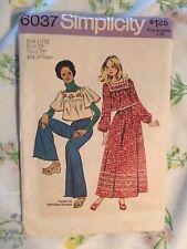 Vintage Girls SZ 11/12 Simplicity Pattern 6037 1960's 70's Teen Top & Skirt