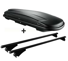 Skibox schwarz VDP JUXT 500 lit + Relingträger Alu Audi Q5 (8R) 08-12