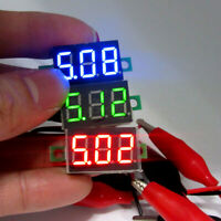 Mini digital voltage meter voltage indicator DC2.5-30V LED panel Meter 2 wire wr