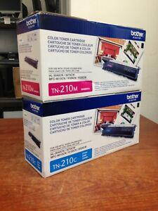 Genuine Brother TN-210M TN-210C Toner Cartridge Set | T647-7