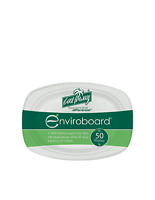Cast Away Plate Enviroboard Oval Small 9 by 6.5 inches  233 by 165 by 25 mm x 50