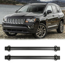 Black Roof Rack Cross Bars Rail Luggage Carrier For Jeep Compass 2011-2016