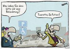 """Postkarte, Humor / Cartoon / Satire, Parkverbot,  """"Tourette"""""""