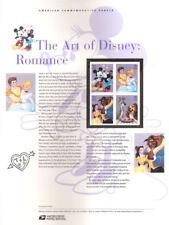 #762 39c The Art of Romanace: Disney #4025-#4028 USPS Commemorative Stamp Panel