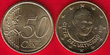 """Vatican 50 euro cents 2011 """"Benedictus XVI"""" UNC"""