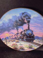 Hamilton 1994 Romance of the Rails SUNSET  LIMITED Train Ltd Ed Plate