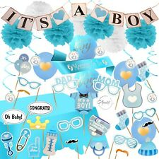 Baby Shower Decorations for Boy Its A Boy Banner, Sash, Table Cloth, Mega Set