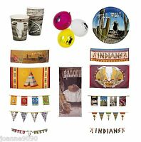 New Cowboys And Indians Wild West Western Birthday Party Tableware Decorations