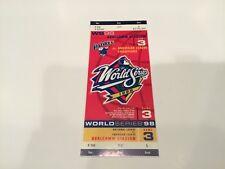 Full Unused 1998 World Series Ticket Yankees San Diego Padres Gwynn Derek Jeter