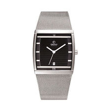 Stainless Steel Case Men's Rectangle 30 m (3 ATM) Watches