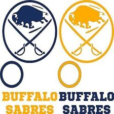 Buffalo Sabres Cornhole Decal Set - 6 Cornhole Decals 2 Free Window Decal