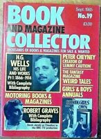 BOOK AND MAGAZINE COLLECTOR # 19 ROBERT GRAVE 'I, CLAUDIUS'; H G WELLS; MOTORING