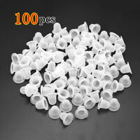 HN- 100Pcs Soft Silicone Ink Holder Tattoo Semi Permanent Makeup Pigment Cups Ap