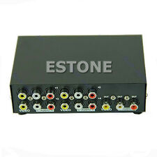 Input 1 Output 4 Port Audio Video AV RCA Switch Switcher Selector Box