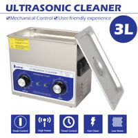 Stainless Steel Ultrasonic Cleaner 3L Liter Heated Heater w/Timer Industry Labs