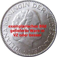 NIEDERLANDE KM 184   1 Gulden  Juliana 1963 in VZ oder besser  621