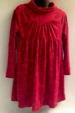 SPLENDID Boutique Red Rose Print Turtleneck Dress Girl's 6X/7 Modal Pima Cotton