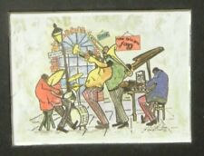 Vintage Knut Engelhardt New Orleans Dixie Land Jazz Band Mini Print - Matted