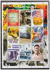 0778 Niger 1998 Movie Baseball amelia earhart golf monopoly hamburger S/S Mnh