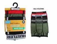 3 6 9 Pairs Mens Shorts Trunks Adults Designer Hustler Underwear