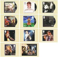 DAVID BOWIE COMPLETE SET of ELEVEN POSTCARDS featuring ALBUM COVERS/TOURS R MAIL